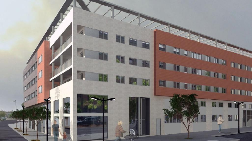 Detalle: obra nueva Edificio ENRIC VALOR 7